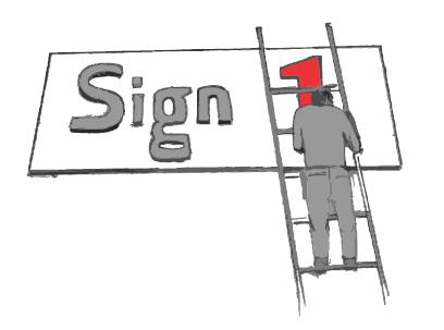 Sign 1 i Horten